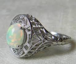 unique opal engagement ring diamond halo opal engagement ring art