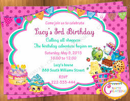 3rd Birthday Invitation Cards Shopkins Inspired Invitation Shopkins Invitation Shopkins
