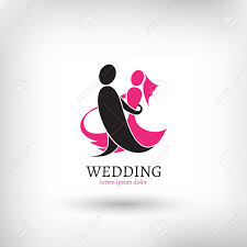 vector wedding logo design template marriage couple ceremony