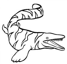 charming beautiful free mosasaur dinosaurus coloring books for