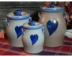 pottery kitchen canister sets 181 best kitchen canisters images on kitchen canister