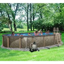 blue wave riviera 18 ft x 33 ft oval 54 in deep 8 in top rail