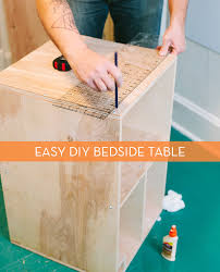 how to make a bed table how to make a modern bedside table from scratch curbly