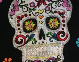 sugar skull flower etsy