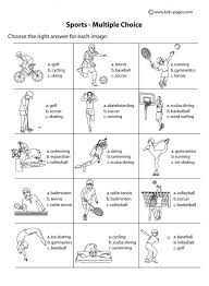 sport worksheets for kids choice b w worksheet sports index