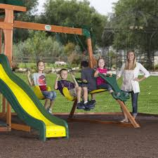 santa fe wooden swing set playsets backyard discovery