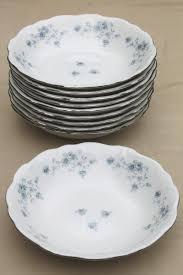 set of 10 blue garland china cereal or soup bowls vintage bavaria