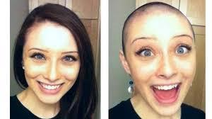 bald women haircuts long to bald haircut long hair to bald girl bald head girls