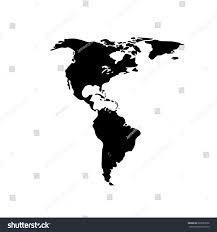 World Map Silhouette Silhouette Map World Location Landmark Stock Vector 663037606