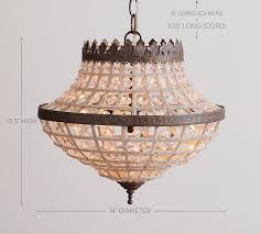 Florian Crystal Chandelier Dalila Beaded Crystal Chandelier Pottery Barn