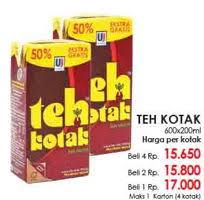 Teh Kotak promo harga teh kotak terbaru minggu ini katalog lottemart hemat id