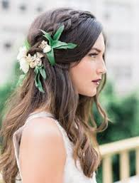 wedding hair flowers beautiful hair makeup inspiration for brides by posh styling