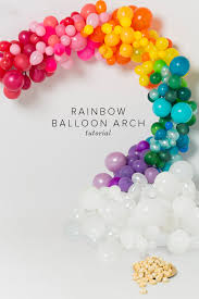 how to make a balloon arch rainbow balloon arch tutorial