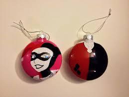 harley quinn dc gotham ornaments by nerdsncrafts on etsy