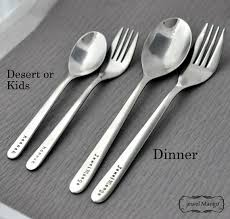 personalized spoons custom spoon fork personalized spoon and fork set dinner dessert