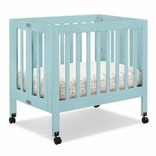 What Is A Mini Crib Babyletto Origami Mini Crib In Lagoon Free Shipping 249 00