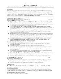 project manager resume sle sle resume of mechanical project manager 28 images it project