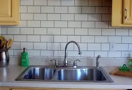 painting kitchen backsplash ideas painted subway tile backsplash remodelaholic