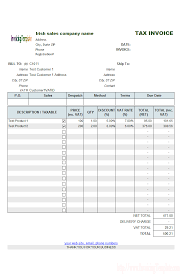 sales invoice format