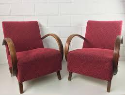fauteuils rouges fauteuils rouges par jindrich halabala pour up zavody 1950s set