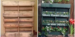 Vertical Flower Bed - how to turn a shipping pallet into a vertical garden diy
