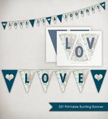 instant download love is a journey banner printable triangle