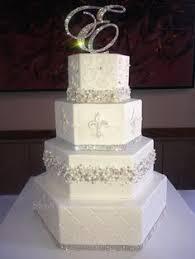 fleur de lis cake topper wedding cakes with fleur de lis hexagon bling by wendyb