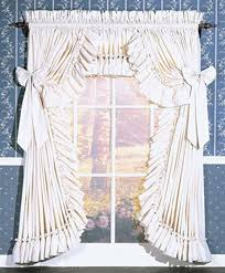 Priscilla Curtains With Attached Valance Carolina Country Priscilla Ruffled Curtains Ruffled Curtains