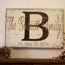 personalized bridal shower gifts personalized name sign custom name sign from rusticlyinspired on