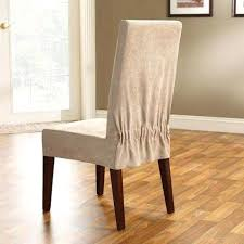 Sure Fit Stretch Pique Shorty Dining Room Chair Slipcover Dining Room Chair Slipcovers Short Easy To Make Slipcovers For