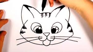 Easy To Draw Halloween by Halloween Cat Face Outline Hvgj Clip Art Library