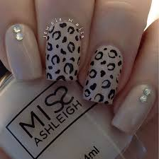 cheetah print nail art designs ideas image