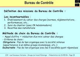 bureau de controle mission bureau de controle