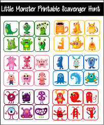 little monster party games u0026 printables
