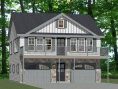 House With 2 Bedrooms 062g 0081 2 Car Garage Apartment Plan With Modern Style 2 Car