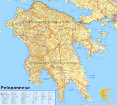 Greece World Map by Peloponnese Maps Greece Maps Of Peloponnese