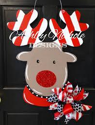 Rudolph The Red Nosed Reindeer Christmas Decorations Rudolph The Red Nosed Reindeer Door Hanger Christmas Door