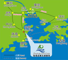 Zhuhai China Map by Traffic Map Zhuhai Golf Club