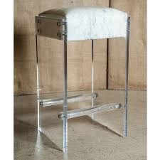 Bar Stools Clearance Maurice Lucite And Hide Bar Stool For Sale At 1stdibs