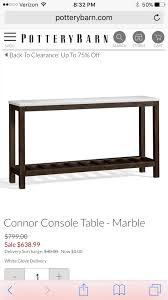 Pottery Barn Connor Coffee Table - 700 pottery barn console table replica for 20 youtube