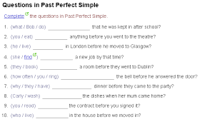 past perfect tense worksheets free worksheets library download