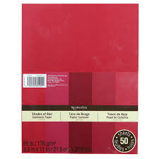 recollections shades of red cardstock paper