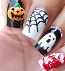 easy nail art characters 65 halloween nail art ideas blood characters and creative