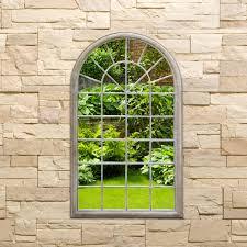 bentley garden single arch mirror natural buydirect4u