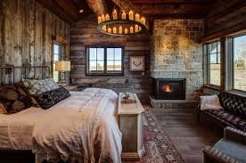 cabin themed bedroom log home bedrooms cabin style kindesign master small plans living