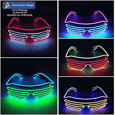 neon party el wire goggles glow glasses neon party at rs 550 party