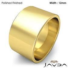s plain wedding bands s plain wedding band flat pipe cut ring 12mm 14k yellow gold