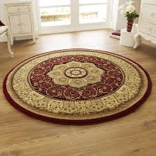 heritage 4400 circular rugs in red free uk delivery the rug seller