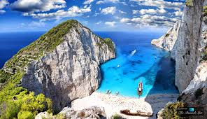Florida Shipwrecks Map Looking Out From The Exposed Cove Of Shipwreck Beach On Zakynthos