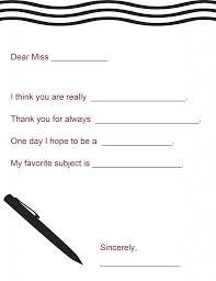 teacher appreciation gift a letter to your teacher printable